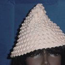 Pink cone shaped vintage hat Grosgrain ribbon hat womens hat  No. 84