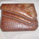 Vintage Cuban Alligator Purse Asymmetrical Opening 87