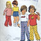 Simplicity 7061 Toddlers Childs pants shirts pullovers 1975  No. 86