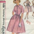 4805 Simplicity Pattern One piece dress transfer monogram included Size 14 Bust 34  No. 86