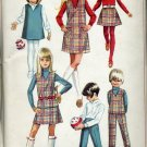 Simplicity Pattern 7785 childs girls jumper top skirt pants 1968 Uncut pattern  No. 86
