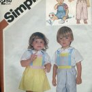 Simplicity 6311 Toddler Size 2 overalls jumper sundress 1983 pattern No. 86