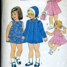 Simplicity Pattern 7323 Size 3 Toddler dress coat hat No. 86