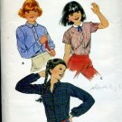 Butterick Pattern Girls' Size 7  blouses 3450 No. 86