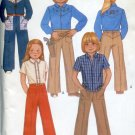 McCall's  7627 Sewing Pattern Uncut Todders' Childrens Shirt pants transfer size 6 No. 86