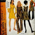 McCalls pattern 2014 Junior Petite Size 11 Bust 34 dress jumper top pants 1969 pattern  No. 86