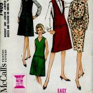 McCall's Sewing Pattern 7409 Misses Junior Jumper set Dress Blouse Easy to Sew  No. 116