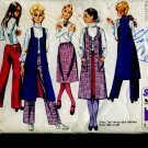 Simplicity Sewing Pattern 9075 Skirts Vests Size 11/12 Bust 32 1970 pattern No. 86