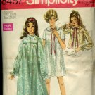 Simplicity sewing pattern 3457  Size 12-14 Bust 34-36  nightgown bedjacket No. 86