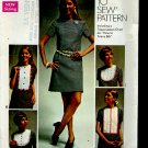 Simplicity sewing pattern 8610 size 13 Junior Petite dress detachable bib  No. 86