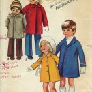 Simplicity Uncut Sewing Pattern 9903 Child's Winter Spring Coats Childs size 3  No. 86