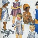 McCall's 2952 Easy Sewing Pattern Toddler size 3 Jumper Sundress overalls shortalls shirt hat