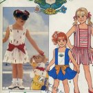 Butterick Sewing Pattern Cabbage Patch Kid's Dress Transfer size 2-3-4 1985 Pattern No. 86