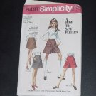 Teens Sewing pattern Skirt Mini Pant Skirt Simplicity Pattern 8418  No. 88