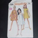 Juniors Misses Vintage Dress 1968 Simplicity 7584 Size 12 Bust 34 sewing pattern No. 88