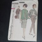 Simplicity Pattern Jacket sleeveless Jacket pants Skirt Miss Size 12 Bust 32 Pattern 4098  No. 31