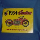 1934 Indian Motorcycles series 402 metal advertising Metal Sign  #91