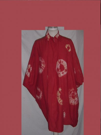 Poncho 1970s tie dye vintage hippie free spirit cape Poncho coat S-L No 94