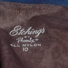 Etchings by Phoenix Vintage textured stockings  size 10 No. 93