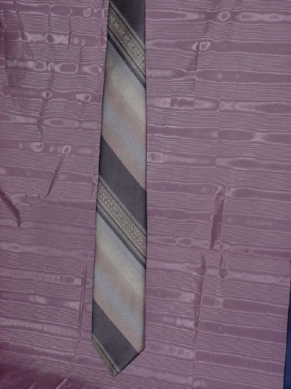 Oleg Cassini tie Hughes & Hatcher earth tone tie  No. 95