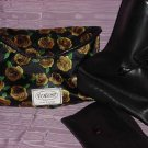 Totes Black rubber overshoes rain boots in Clutch bag  Size X-Large  No.  96