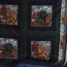 Fabric Squares Cranston print panels pillow quilt squares  No. 99