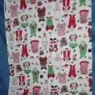 Christmas fabric Mrs Santa Mr Santa Christmas print No. 99