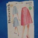 Vintage Uncut A line skirt Pattern Butterick 2235 Waist 28  No. 99