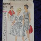Simplicity Vintage Dress Sewing Pattern Uncut 3323 Girls Sub-teen Size 12s Bust 31 1950s No. 99