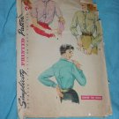 Simplicity Vintage Shirt Sewing Pattern 4813 Size 12s Bust 30 1950s sleeve piece missing No. 99