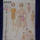 Simplicity Vintage dress Uncut Sewing Pattern 4419 Teen Size 14 Bust 34 No. 99