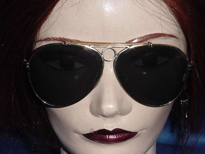 Aviator Sunglasses Vintage  1940s, 1950s 1960s grey black lens  No. 97