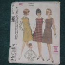 vintage 1965 dress Pattern McCall's 7890 dress jumper blouse Uncut size pre-teen 12-14 No. 101a