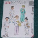 Toddlers Pajamas Pattern McCall's 9629 Cut One piece pajama Size CC 2,3,4 No. 101a