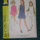vintage 1969 dress jumper blouse Pattern 9685 McCall's cut girls size 4 No. 101a