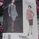 Vogue American Pattern 1839 Jacket Skirt Oscar De La Renta Uncut Size 8 12  No. 101a