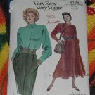 Vogue Very Easy Very Vogue dress 8134 cut Altered Size 8 12  No. 101a
