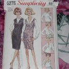 Misses Simplicity Sewing Pattern dress jumper blouse size 14 cut pattern 6276  no. 101a