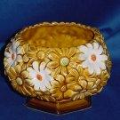 Relpo vintage planter Gold yellow white daisy planter