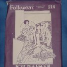 Folkwear Patterns from the Past  214 Womens size 8-14 1927 Tea Frock 102a