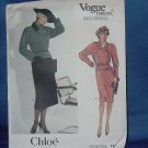Vogue Patterns Chloe Paris Original 1427 Jacket Skirt size 14 102a