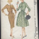 vintage McCall's Pattern 5552 misses womens size 16 dress with slim or full skirt Bust 36  No. 110