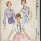 vintage McCall's Pattern 5572 blouse pattern uncut 1960s  No. 108
