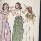 Simplicity Sewing Pattern size 14 6425 pattern Girls top bell bottom pants front wrap skirt No. 48