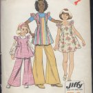 Child's Smock dress bell bottom pants Simplicity Pattern 5483  size 12 pattern printed 1972  no. 108