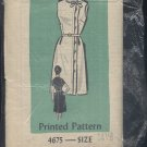 Printed Pattern vintage Sewing Pattern 4675 size 14 1/2 pattern no. 122 Uncut