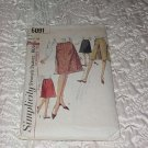 Misses Skirt Simplicity Sewing Pattern 6091 Waist 28 Hips 38  No. 109