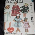 McCall's Pattern 8634 The Ribbon Dress childrens girls dress size 8 Uncut  No. 110