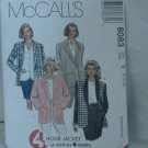 McCall's Pattern size B 8083 4 hour jacket Uncut   No. 110