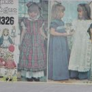Vogue Little Vogue 1326 dress Cut sewing pattern Child Girls size 6  No. 113